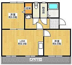 コンチェルト東合川II[408号室]の間取り