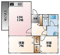 千島ハウス[1階]の間取り