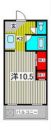 平野コーポ[4階]の間取り