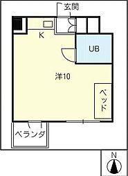 関権第3ビル[4階]の間取り