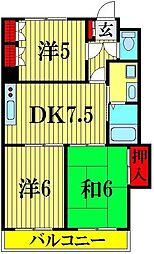 原第10マンション[202号室]の間取り