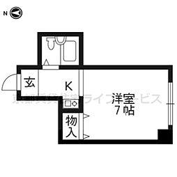 カームハウス近江[403号室]の間取り