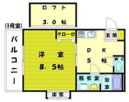 エクセル和白B[2階]の間取り