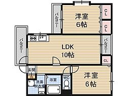 シェリール木村Part2[4階]の間取り