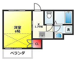 ベイシティ松戸小山 II[201号室]の間取り