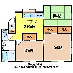 [一戸建] 長野県伊那市上牧 の賃貸【/】の間取り