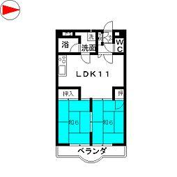 ジョイフル88[3階]の間取り