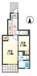 モダンkmII[1階]の間取り