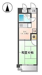 愛知県稲沢市小沢4丁目の賃貸マンションの間取り
