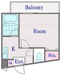 第1シャトーハイツ[3階]の間取り