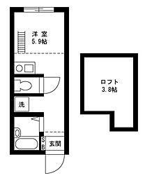 戸塚区上矢部アパートメントB棟[1階]の間取り