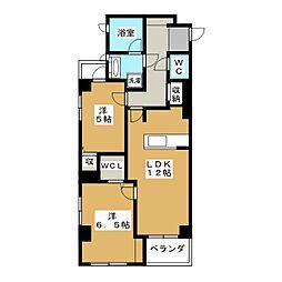 エクシオ京都御池[2階]の間取り