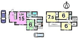 土地面積40.75坪、南西角地です。全室6帖以上の広さを確保したゆとりある間取り。お好きな日に内覧可能です