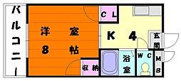 タイガーハイツII[3階]の間取り
