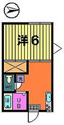 稲荷山ハイツ[1−A号室]の間取り