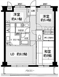 藤和ライブタウン新検見川[304号室]の間取り