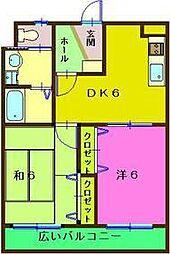 リュウセン五井[206号室]の間取り