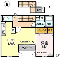 仮)D-room新川6丁目[2階]の間取り