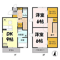 ウィット吉川A[2階]の間取り
