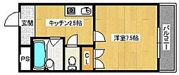 タカハシマンション[705号室]の間取り