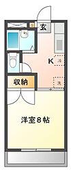 コーポ川島第6[2階]の間取り