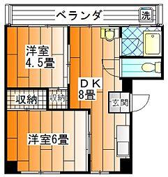 角田ビル[202 号室]の間取り