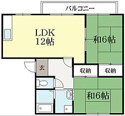 リバティハウス葵[1階]の間取り