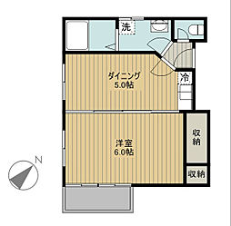 新潟県新潟市中央区二葉町3丁目の賃貸アパートの間取り