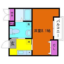SQUARE9神崎川[2階]の間取り