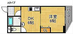 アーク住之江[2階]の間取り