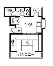 美和ビル[10階]の間取り