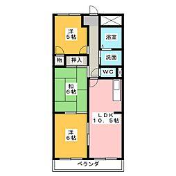 シャトーSI[2階]の間取り