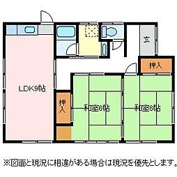 [一戸建] 長野県松本市大字惣社 の賃貸【/】の間取り