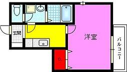 ゼファー東大阪[8階]の間取り