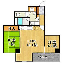 INSURANCE BLDG XIV(14)[4階]の間取り