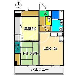 アーバンハイツ(唐人)[2階]の間取り