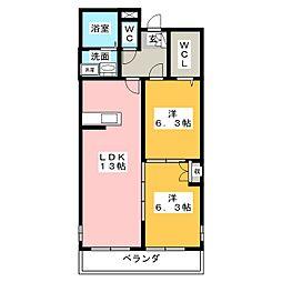 メゾン・デュ・y[2階]の間取り