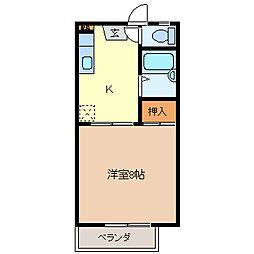 タウンJNTK A棟[2階]の間取り