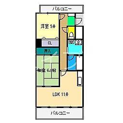 グランドール桜井[4階]の間取り