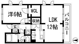 T-1レジデンス[3階]の間取り