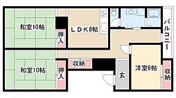 愛知県名古屋市南区三吉町4丁目の賃貸マンションの間取り