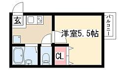 愛知県名古屋市天白区表山2丁目の賃貸マンションの間取り