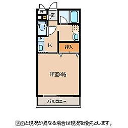 長野県諏訪市沖田町1丁目の賃貸マンションの間取り