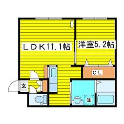 北海道札幌市東区北十九条東12丁目の賃貸マンションの間取り
