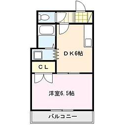 ピュアクローネI[2階]の間取り