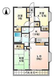 フラットテン向台弐番館 11a[2階]の間取り