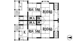 下加茂1丁目貸家(桜井文化)[2階]の間取り