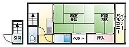田頭邸[2A号室]の間取り