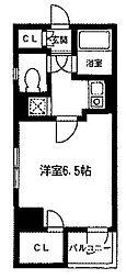 東京都中央区京橋2丁目の賃貸マンションの間取り
