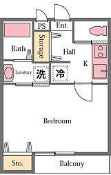 マリポーサ[2階]の間取り